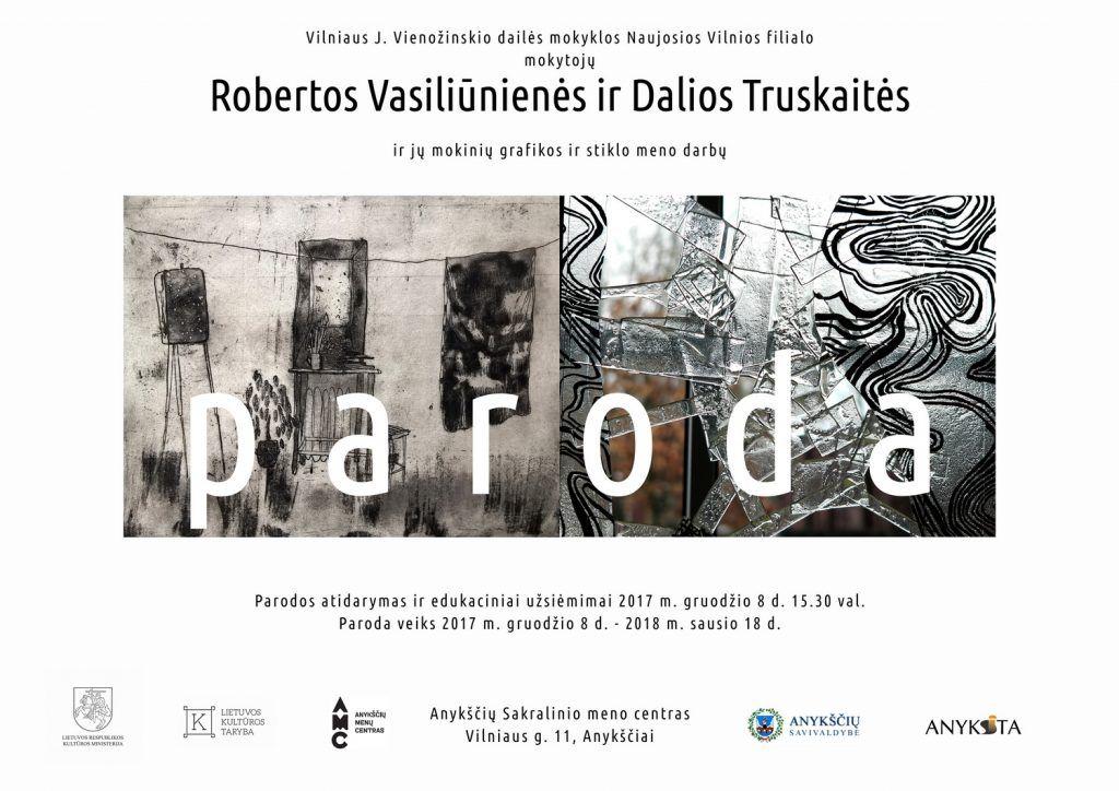Grafikos ir stiklo meno darbų parodos atidarymas ir edukacinis užsiėmimas
