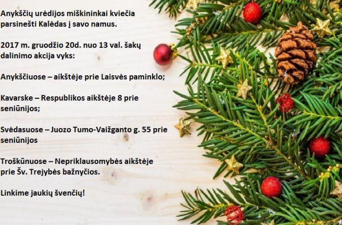 Anykščių urėdijos miškininkai kviečia parsinešti Kalėdas į savo namus