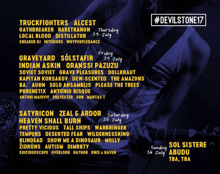 """Festivalis """"Devilstone"""" (2017) - Pirmoji diena"""