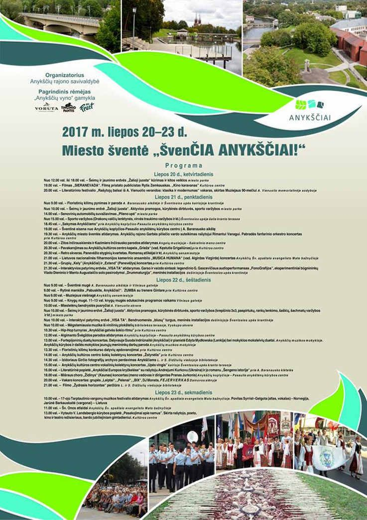 """Anykščių miesto šventė (2017) - """"ŠvenČIA ANYKŠČIAI"""" - Grupių """"Kely"""" ir """"Extend"""" koncertas"""
