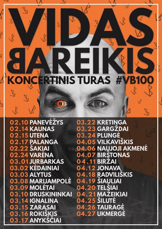 Vidas Bareikis - Koncertinis turas #VB100