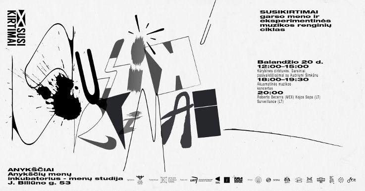 """Garso meno ir eksperimentinės muzikos renginių ciklas """"Susikirtimai"""" (2018) - Koncertas"""