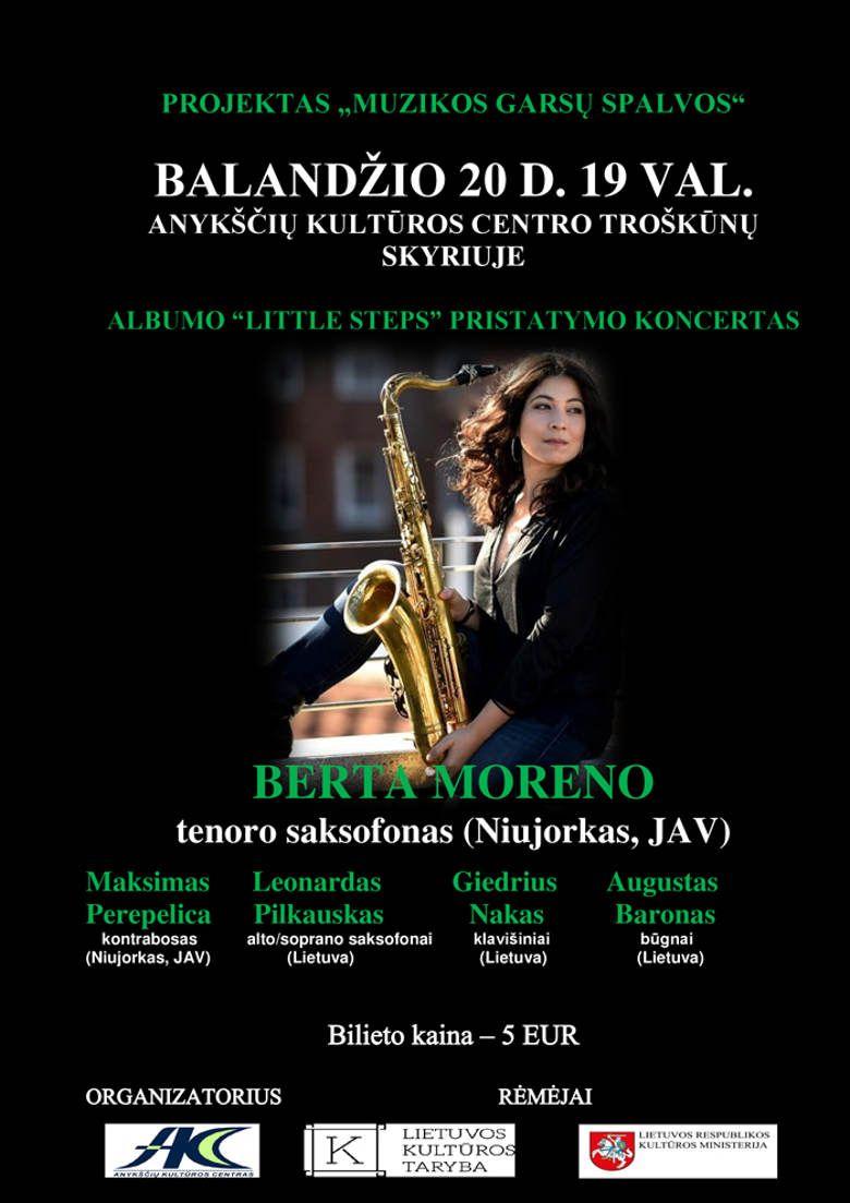 "Džiazo ansamblio ""Berta Moreno"" koncertas"