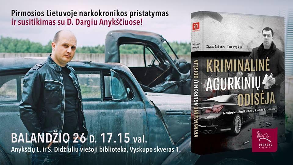 """Dailiaus Dargio knygos """"Kriminalinė Agurkinių odisėja"""" pristatymas"""