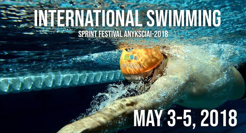 """XX Tarptautinis plaukimo sprinto festivalis """"Anykščiai - 2018"""""""
