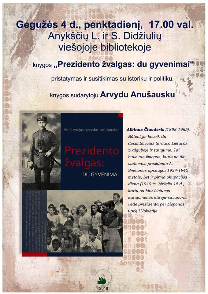 """Knygos """"Prezidento žvalgas: du gyvenimai"""" pristatymas"""