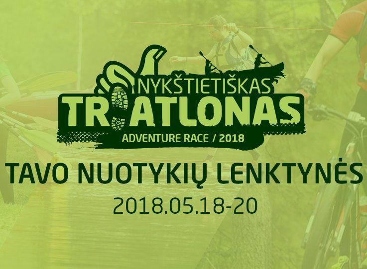 """Nuotykių lenktynės """"Nykštietiškas triatlonas"""" (2018) - Pirmoji diena"""