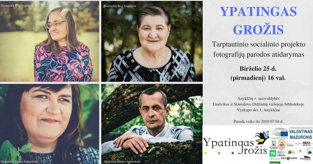 """Tarptautinio socialinio projekto fotografijų parodos """"Ypatingas grožis"""" atidarymas"""
