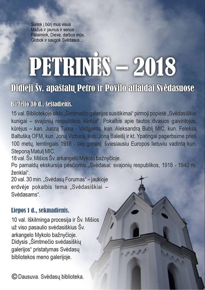 Petrinės - Šv. Petro ir Povilo atlaidai Svėdasuose - Pirmoji diena