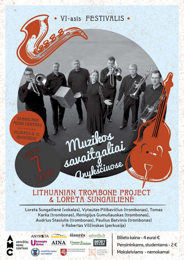 """Festivalis """"Muzikos savaitgaliai Anykščiuose"""" (2018) - Lithuanian trombone project ir Loreta Sungailienė"""