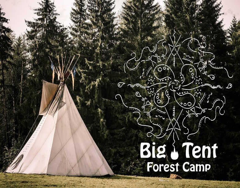 """Miško stovykla vaikams anglų kalba """"Big Tent Forest Camp"""""""