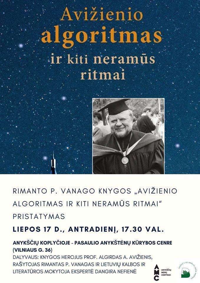 """Rimanto P. Vanago knygos """"Avižienio algoritmas ir kiti neramūs ritmai"""" pristatymas"""