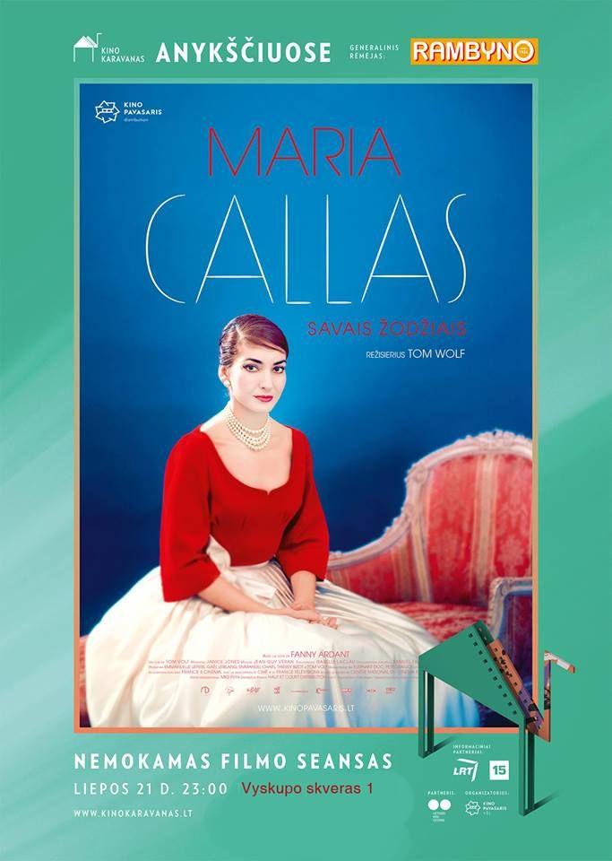 """Anykščių miesto šventė (2018) - """"Anykščių glėbyje"""" - Kino karavanas (2018) Anykščiuose - Tom Volf """"Maria Callas: savais žodžiais"""" (2017, trukmė: 113 min., dok. f.)"""