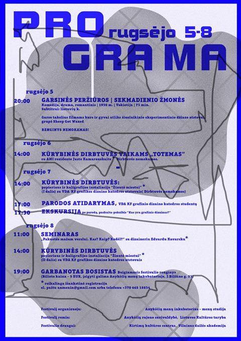 """Kūrybinių industrijų festivalis GRAPHIC FEST LT - Kūrybinės dirbtuvės vaikams """"TOTEMAS"""""""
