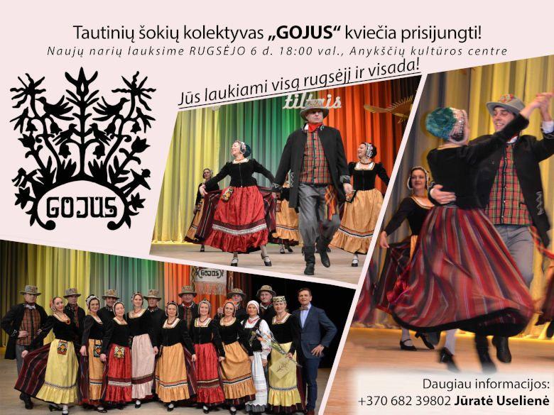 """Tautinių šokių kolektyvas """"Gojus"""" kviečia prisijungti!"""