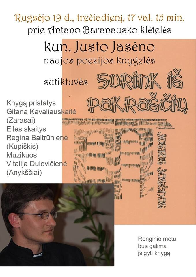 Kun. Justo Jasėno naujos poezijos knygelės sutiktuvės