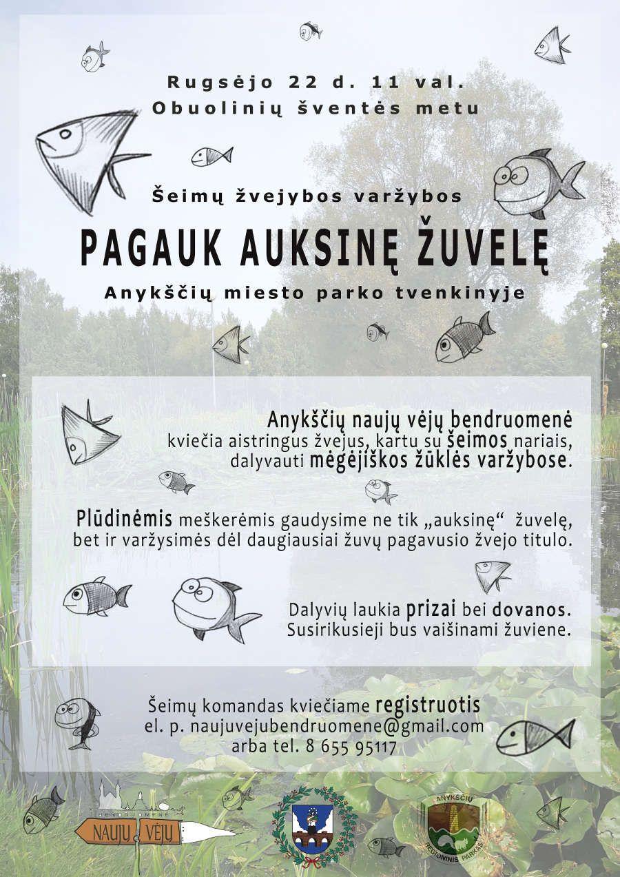 """Derliaus šventė """"Obuolinės"""" (2018) - Šeimų žvejybos varžybos """"Pagauk auksinę žuvelę"""""""