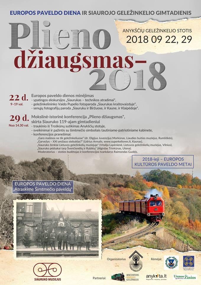 Europos paveldo diena (2018) Anykščių siaurojo geležinkelio stotyje