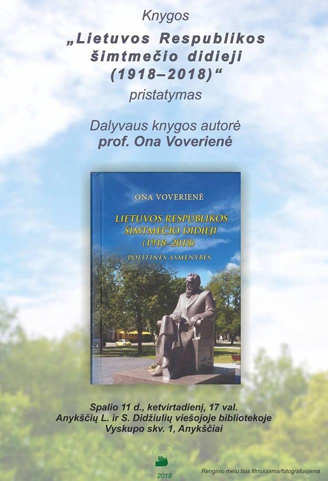 Onos Voverienės knygos pristatymas Anykščiuose