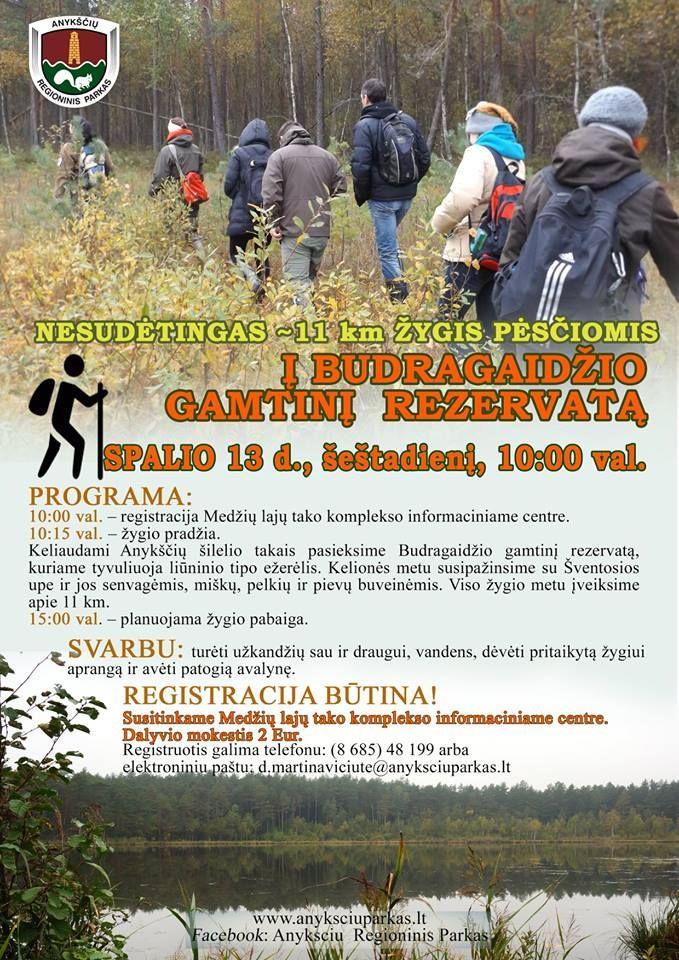 Kviečiame į žygį po Budragaidžio gamtinį rezervatą