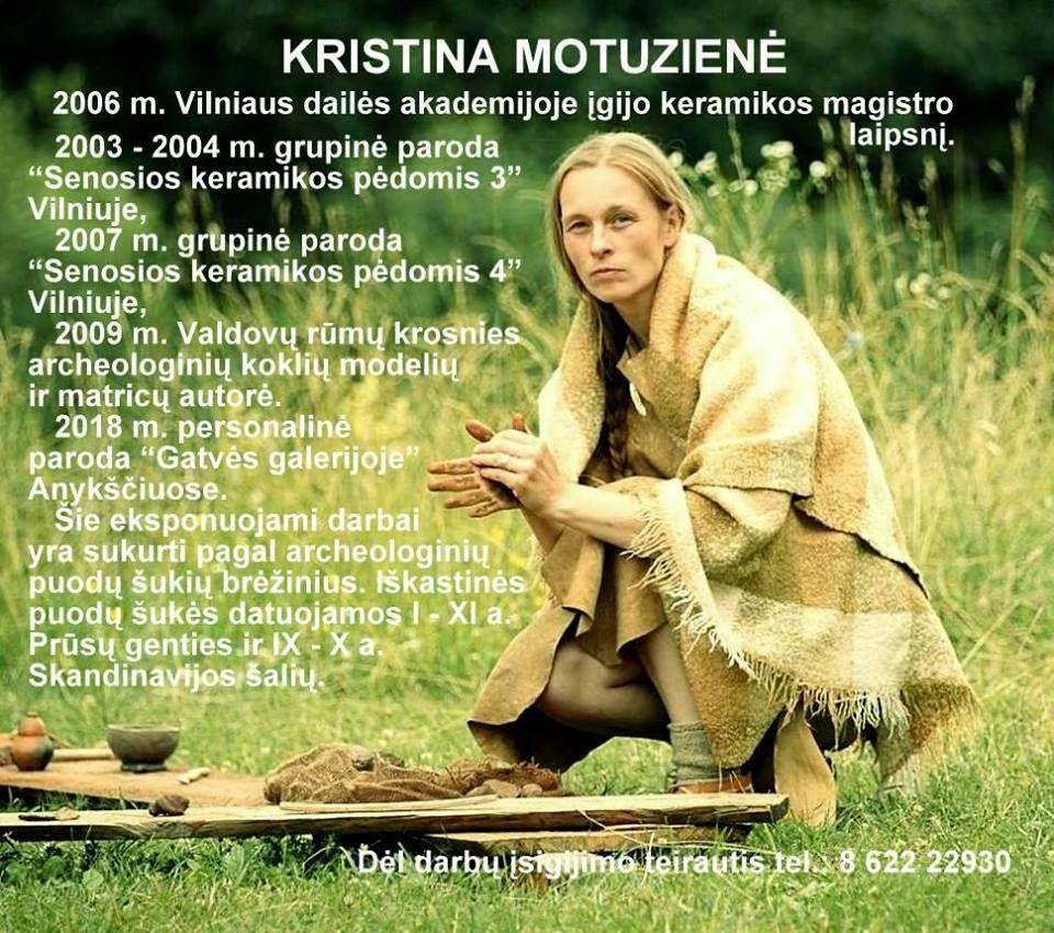 Kristinos Motuzienės keramikos dirbinių paroda