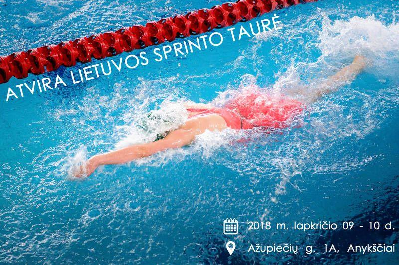 Lietuvos plaukimo federacijos sprinto taurė Anykščiuose / Pirmoji diena