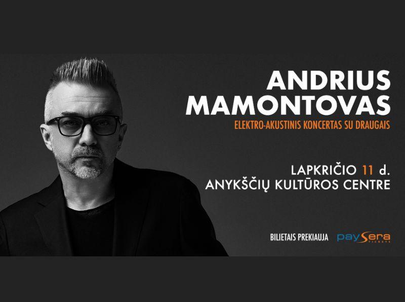 Andriaus Mamontovo koncertas Anykščiuose