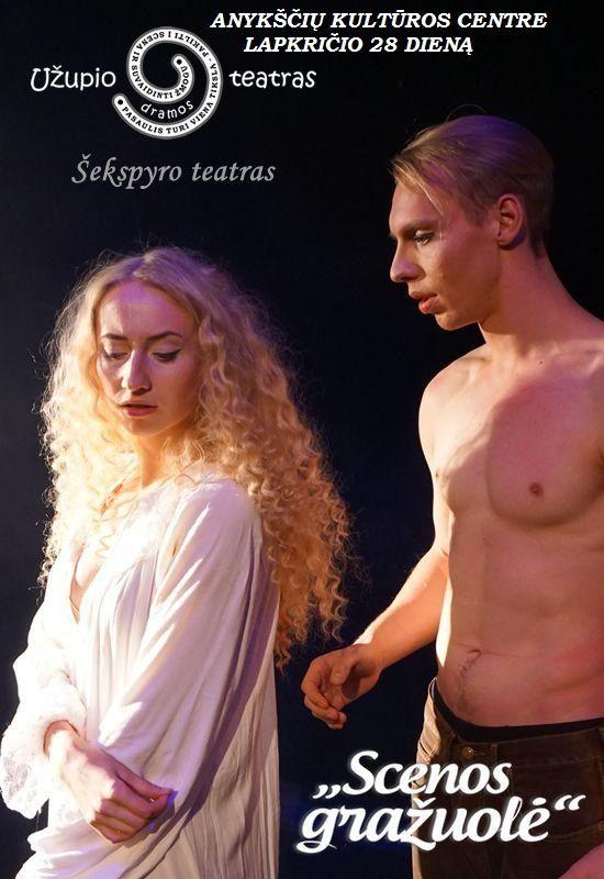 """Užupio dramos teatro premjera - spektaklis """"Scenos gražuolė"""""""