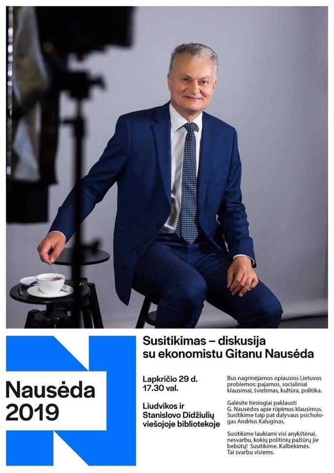 Susitikimas - diskusija su ekonomistu Gitanu Nausėda