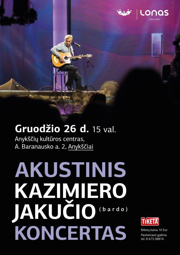 Bardo Kazimiero Jakučio koncertas