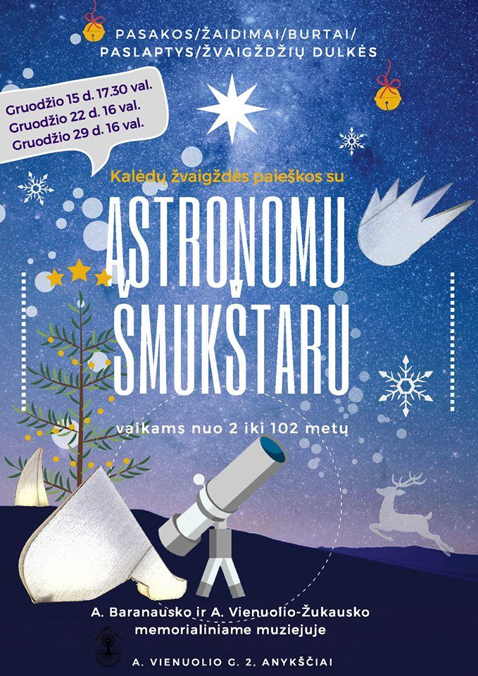 Kalėdų žvaigždės paieškos su Astronomu Šmukštaru