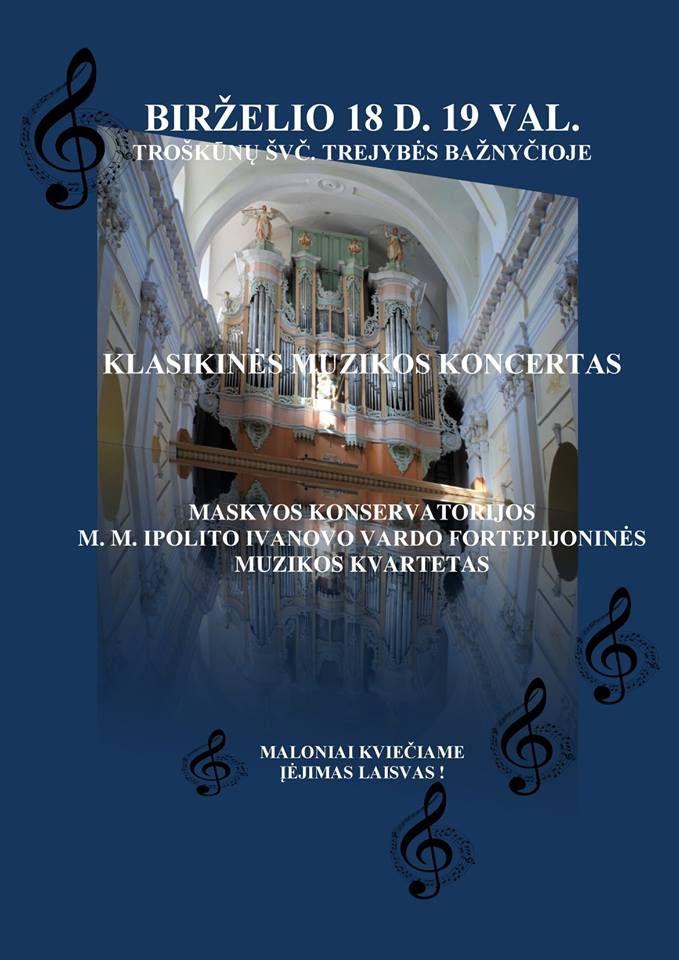 Klasikinės muzikos koncertas - Fortepijoninės muzikos kvartetas