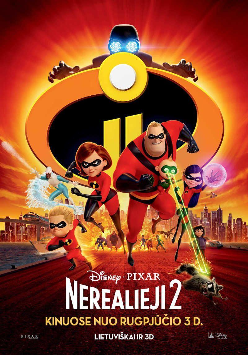 "Brad Bird ""Nerealieji 2, 2D"" (2018, trukmė: 1:40)"