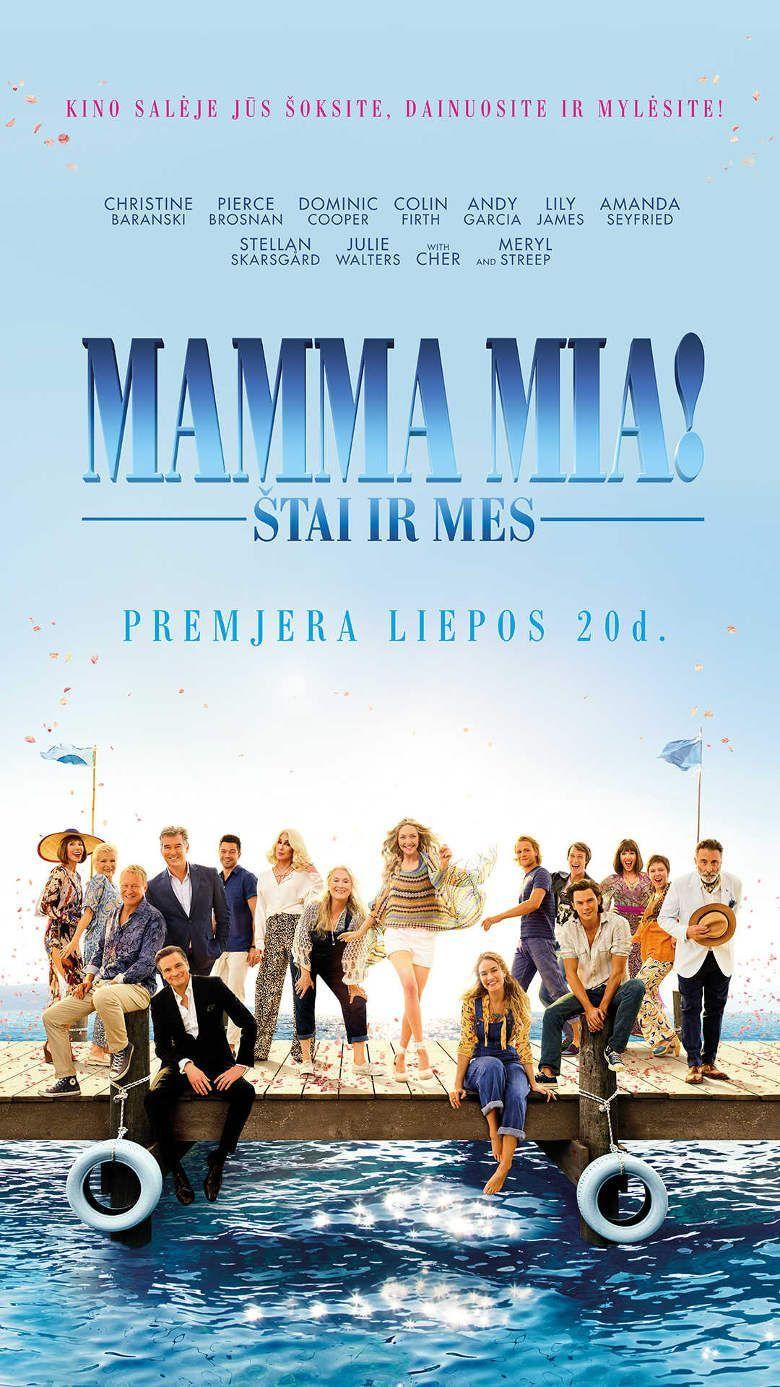 """Ol Parker """"Mamma Mia! Štai ir mes"""" (2018, trukmė: 1:40)"""