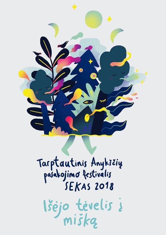 """Tarptautinis Anykščių pasakojimo festivalis """"SEKAS"""" (2018) / Įžengus į mišką / Pasakų knygos kūrimo dirbtuvės"""