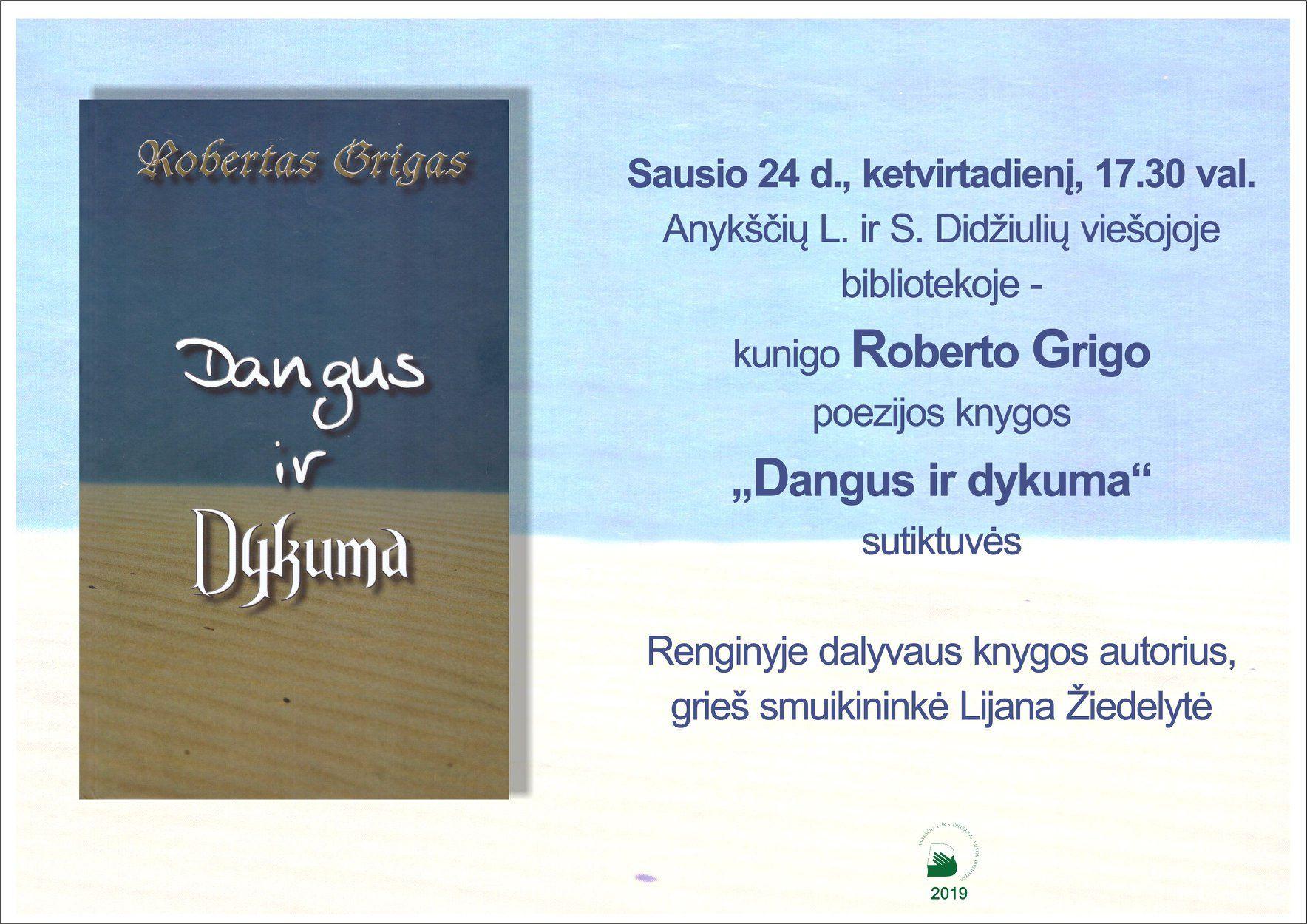 """Kunigo ROBERTO GRIGO poezijos knygos """"Dangus ir dykuma"""" pristatymas"""