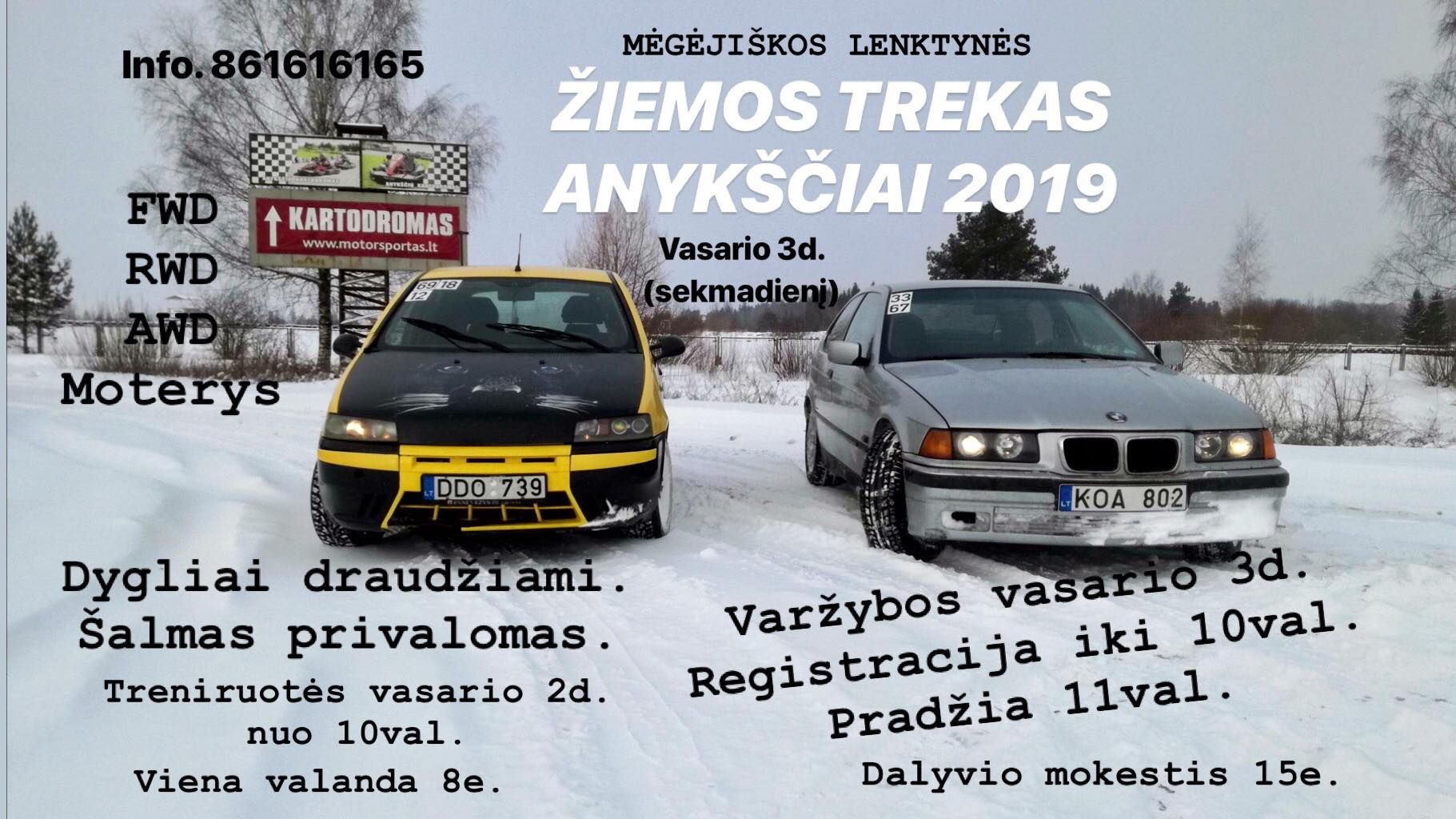 Žiemos trekas (2019) - Varžybos