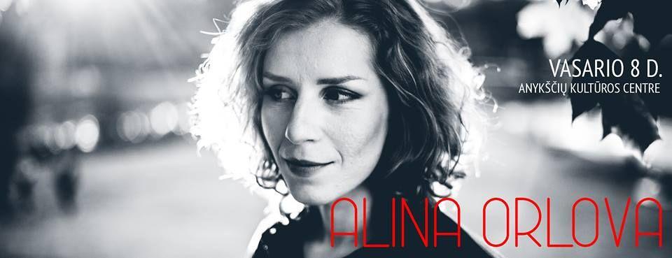 Alinos Orlovos autorinis koncertas Anykščiuose