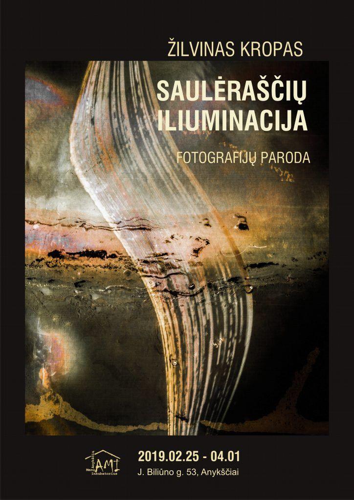 """Žilvino Kropo fotografijų paroda """"Saulėraščių iliuminacija"""""""