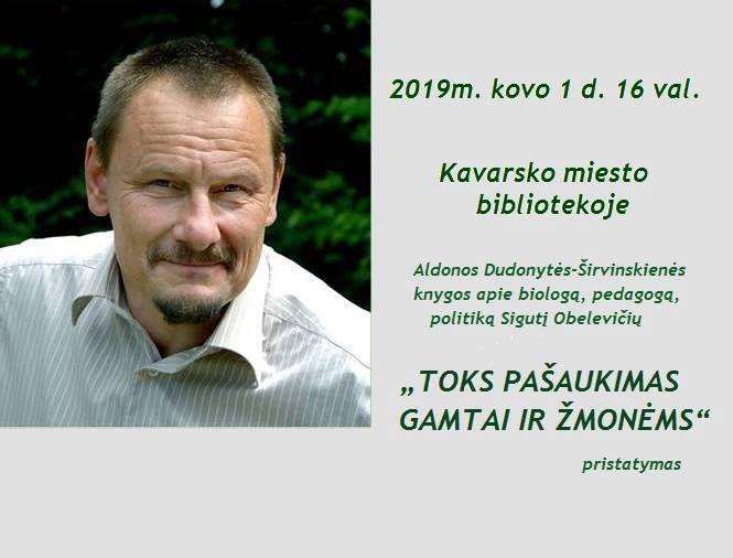 """Aldonos Dudonytės-Širvinskienės knygos """"TOKS PAŠAUKIMAS GAMTAI IR ŽMONĖMS"""" pristatymas"""