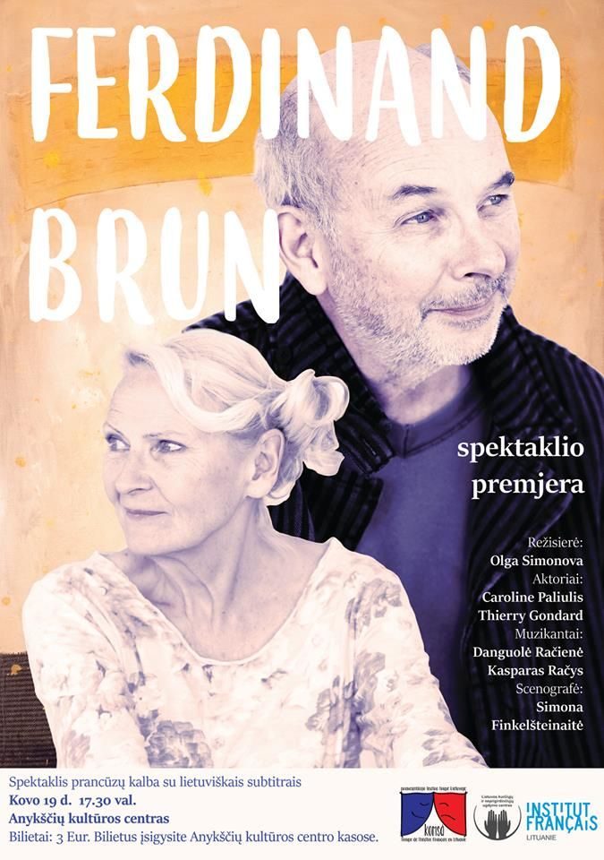 "Spektaklio ""Ferdinand Brun"" premjera"