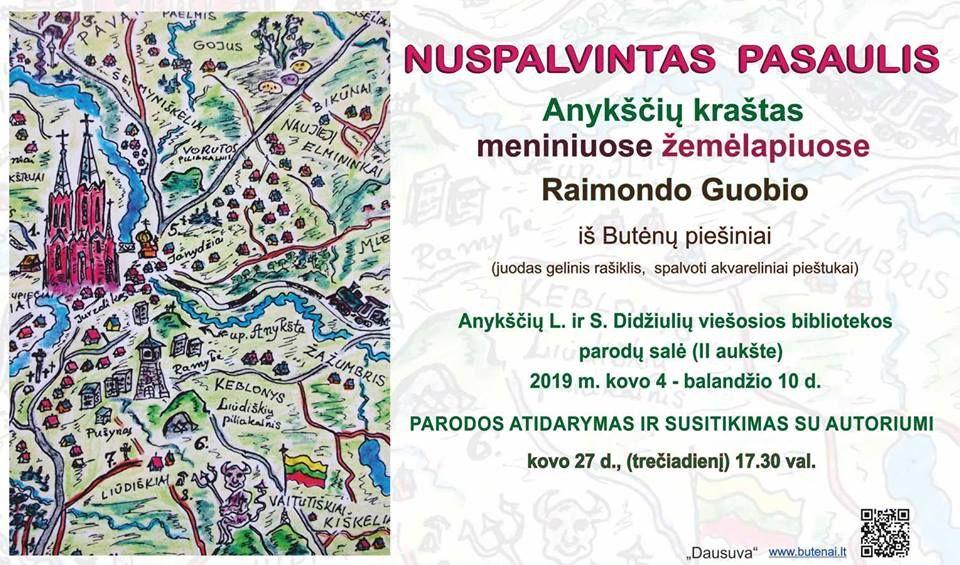 """Raimondo Guobio paroda """"Nuspalvintas pasaulis"""" / Susitikimas su autoriumi"""