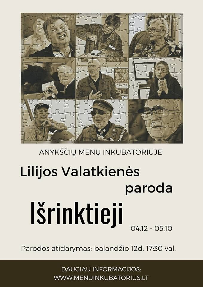 "Lilijos Valatkienės paroda ""Išrinktieji"""