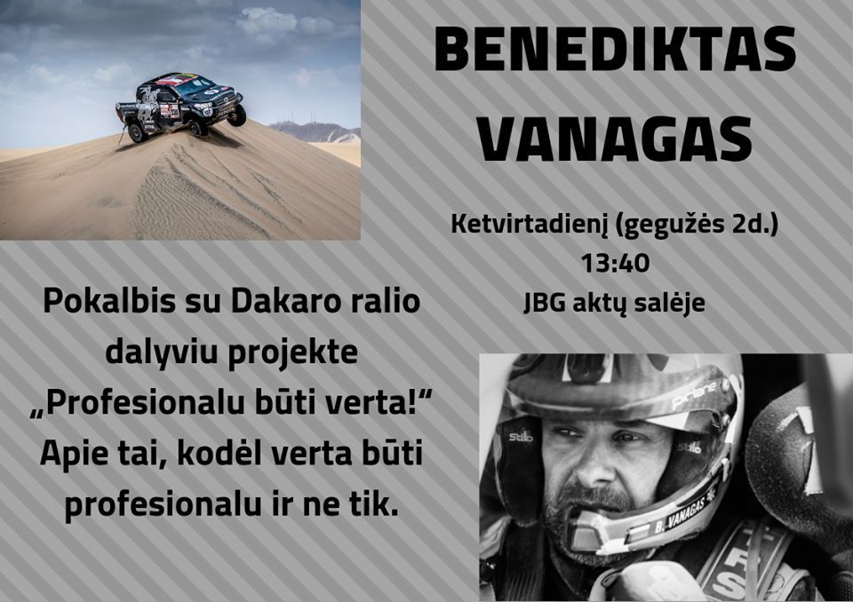 Pokalbis su Dakaro ralio dalyviu Benediktu Vanagu