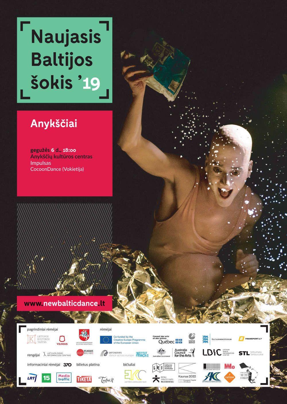 """Tarptautinis šiuolaikinio šokio festivalis """"Naujasis Baltijos šokis"""" / Spektaklis """"Impulsas"""" (Vokietija)"""