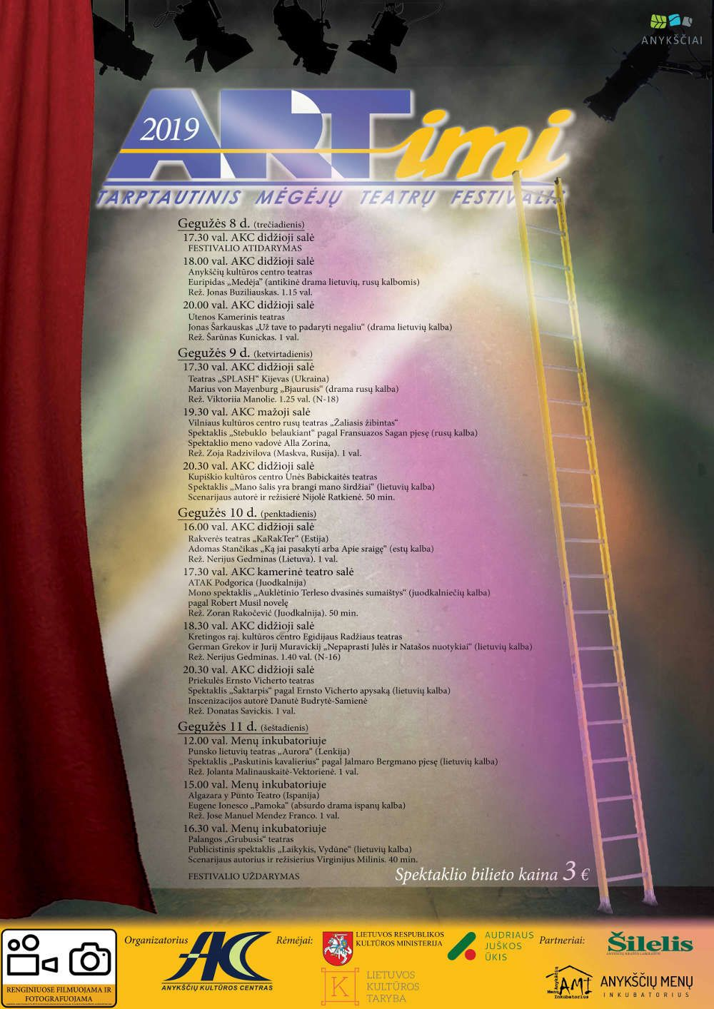 """Tarptautinis mėgėjų teatrų festivalis """"ARTimi"""" (2019) / Eugene Ionesco """"Pamoka"""""""