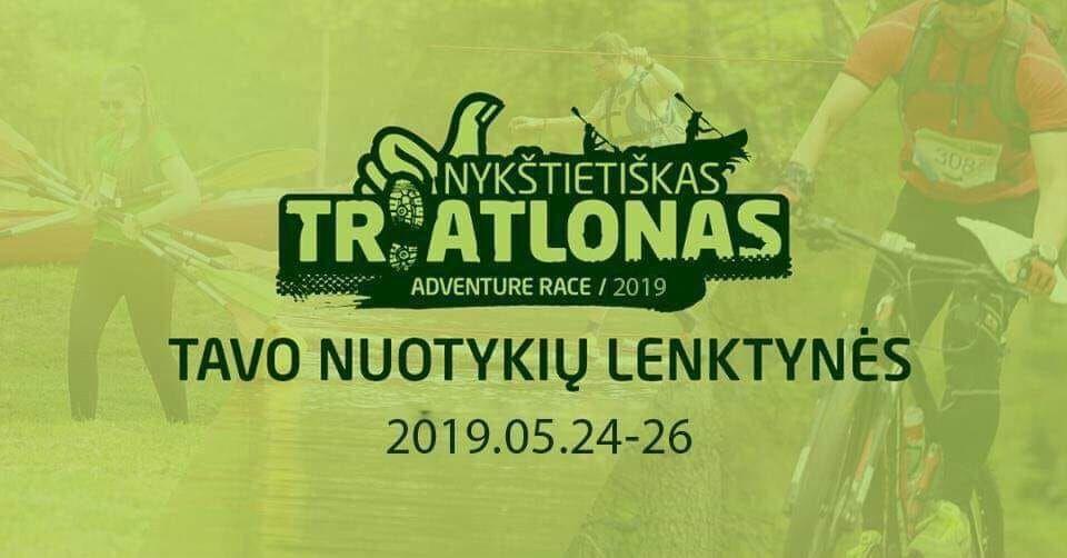 """Nuotykių lenktynės """"Nykštietiškas triatlonas"""" (2019)"""