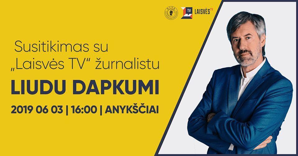 """Susitikimas su """"Laisvės TV"""" žurnalistu iš R.I.T.A. tyrimų komandos Liudu Dapkumi"""