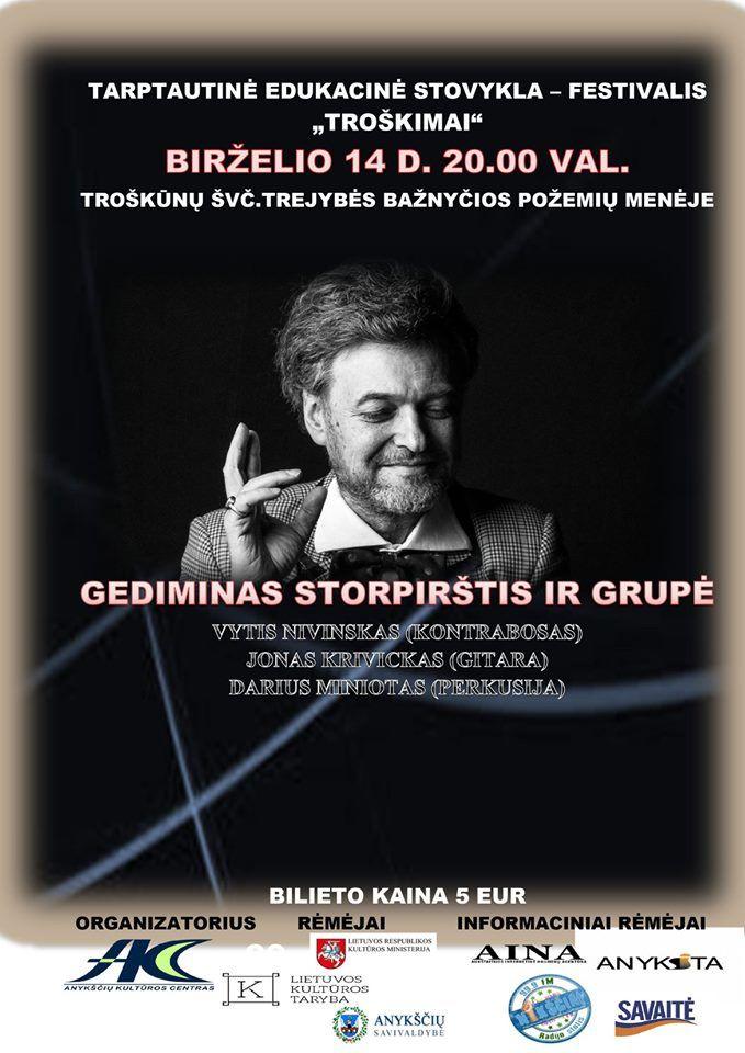 """Tarptautinė edukacinė stovykla - festivalis """"Troškimai"""" (2019) / Gediminas Storpirštis ir grupė"""