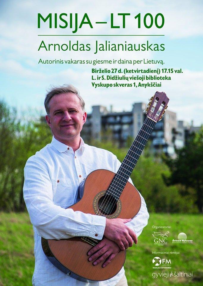 Autorinis vakaras su giesme ir daina per Lietuvą
